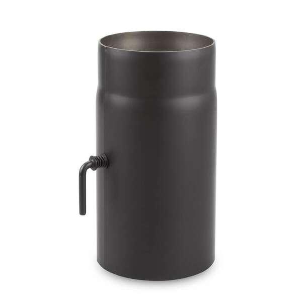 150 mm tuyau de po le longueur 25 cm cl de tirage noir chez. Black Bedroom Furniture Sets. Home Design Ideas