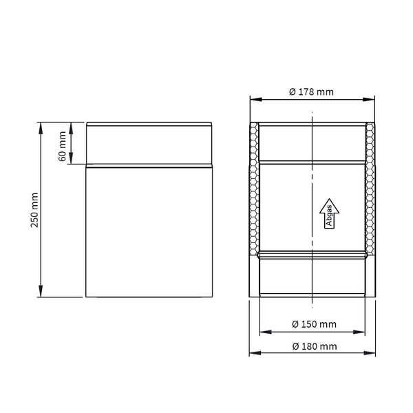 tube double paroi el ment longueur 250 mm iso line chez. Black Bedroom Furniture Sets. Home Design Ideas
