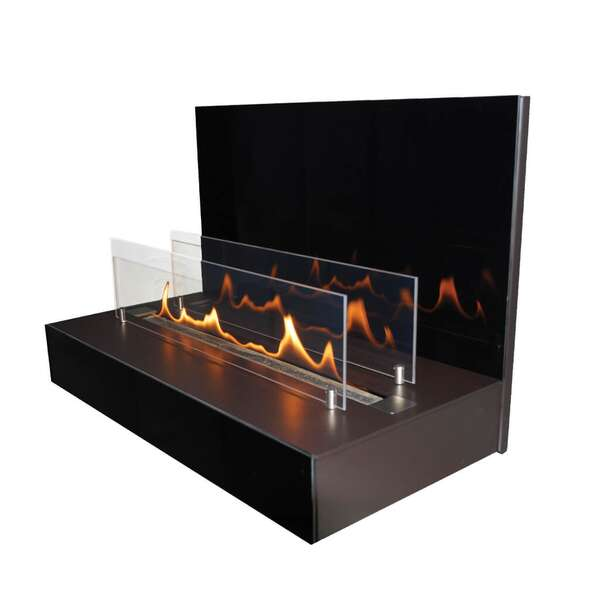 Cheminée bioéthanol  ebios-fire Quadra Wall by Spartherm