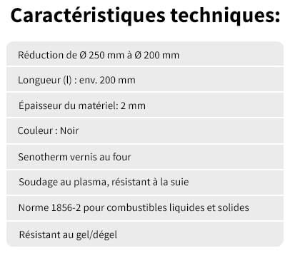 Reduction 250 de 200 Caracteristiques techniques